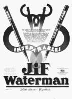 "PUB  STYLO-PLUME  "" JIF WATERMAN   ""    1930  (21) - Pens"