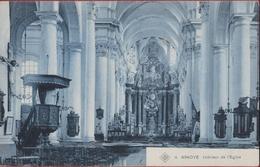 Ninove Binnenzicht Van De Kerk Intérieur De L'église Preekstoel (In Zeer Goede Staat) - Ninove