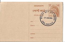 Bangladesh:First Day Of Issue Post Card Dacca 29 Jun 1976 Mint - Bangladesh