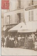 L'ISLE ADAM - Carte Photo Hotel Du Patis ( Maison Marie ) Et Bourrellerie  - Changement De Propriétaire ( Carte Animée ) - L'Isle Adam