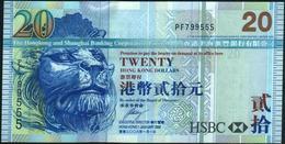 HONG KONG - 20 Dollars 01.01.2008 {H.S.B.C.} UNC P.207 E - Hongkong