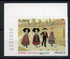 RC 11813 FRANCE N° 370 HANSI ALSACE TABLEAU AUTOADHÉSIF COTE 11,00€ TB - France
