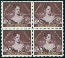 Portugal 1953 Centenary Of Portugal First Postage Stamp - 1º Cent Selo Postal Português Block Of 4 MNH - Celebrità