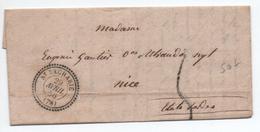 1856 - LETTRE De SAINT ZACHARIE (VAR) Avec TYPE 22 - 1849-1876: Période Classique