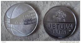 Lithuania - Lietuva 1 Litas UNC 2011 Basketball Championship  UNC FROM MINT ROLL - Lituanie