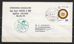 1979 - 37 - Airbus A 300 - Hyderabad Bangalore - Airplanes