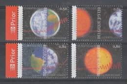 SERIE NEUVE DE BELGIQUE - CLIMATOLOGIE N° Y&T 3265 A 3268 - Climat & Météorologie