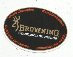 Autocollant , BROWNING , Champion Du Monde - Adesivi
