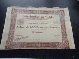 IMMOBILIERE DES PRES SALES (100 Francs,capital 3,1 Millions) ARCACHON-GIRONDE - Non Classés