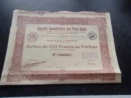 IMMOBILIERE DES PRES SALES (100 Francs,capital 2 Millions) ARCACHON-GIRONDE - Non Classés