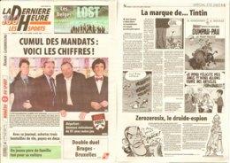 Journal DERNIERE HEURE Du  14-08-2005 Asterix : Art+ill  La Marque De Tintin - Astérix