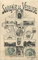 -dpts Div.-ref-AG713- Meurthe Et Moselle - Vezelise - Souvenir De .. - Multi Vues - Croix De Lorraine Et Chardons - - Vezelise