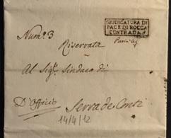 1812 ROCCACONTRADA  PER SERRA DE CONTI - Italy
