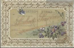 Themes Div-ref AA815- Carte Celluloide -celluloid -translucide - Dorures -veritables Paillettes - Petites Perles - - Cartes Postales