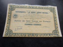 """Vetements """" LE MONT SAINT MICHEL """" (100 Francs) Rennes , Ille Et Vilaine - Non Classés"""