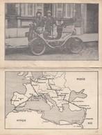 CPA (automobile) DE DION BOUTON  40.000 Km (globe Trotter) (b Bur Theme) Carte Double - Voitures De Tourisme