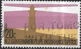 NEW ZEALAND 1981 Life Insurance Department - Lighthouse - 20c - Multicoloured  AVU - Officials