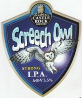 CASTLE ROCK BREWERY (NOTTINGHAM, ENGLAND) - SCREETCH OWL (2) - PUMP CLIP FRONT - Enseignes