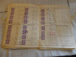 POLIZZA POPOLARE DI ASSICURAZIONE MISTA CON 31 MARCHE DA BOLLO DA 15 L. ISTITUTO NAZ. DELLE ASSICURAZIONI POPOLARI-1937 - Banca & Assicurazione