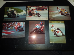 LOT DE 6 PHOTOS CIRCUIT PAUL RICARD - AGOSTINI / LANSIVUORI / CECOTTO / CHOUKROUN - PHOTO ALAIN COCHET - 83 VAR (AD) - Moto