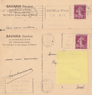 SALON Des ARTS MÉNAGERS PARIS 01/38 - LES 2 FLAMMES DIFFÉRENTES - Marcophilie (Lettres)