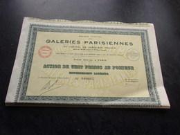 GALERIES PARISIENNES (1934) - Non Classés