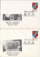 76867- FLAMANZI PEASANTS UPRISING, BOTOSANI MONUMENT, SPECIAL COVER, 2X, 1978, ROMANIA - 1948-.... Républiques
