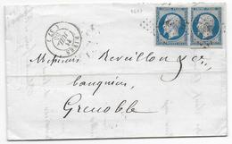 1855 - ISERE - LETTRE 2° ECH De RIVES => GRENOBLE - Marcophilie (Lettres)