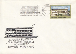 76915- BOTOSANI PHILATELIC EXHIBITION, ROMANIAN STAMP'S DAY,  SPECIAL COVER, 1979, ROMANIA - 1948-.... Républiques