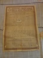POLIZZA ASSICURAZIONE MISTA ABBINATA AL PRESTITO REDIMIBILE 5 % - 1937 - Banca & Assicurazione