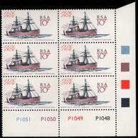 South Africa - 1976 Centenary Of Ocean Mail Service Control Block (**) # SG 409 - Blocs-feuillets