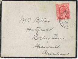 31701. Carta De Luto LIVERPOLL (England) 1904. Wª YE... (Yew Tree) - 1902-1951 (Reyes)