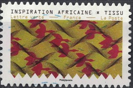 France 2019 Oblitéré Used Tissus Motifs Nature Inspiration Africaine Timbre 04 - France