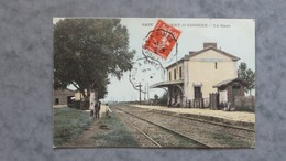 CPA-30-SAINT LAURENT D'AIGOUZE-La Gare - Francia