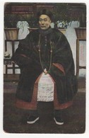China Man In Chinese Costume Vintage Postcard - Chine
