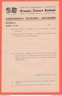 PNF Censimento Ricoveri Antiaerei Milano - Documenti
