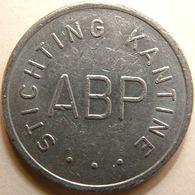KB002-1 ABP Stichting Kantine - Heerlen - WM 22.5mm - Koffie Machine Penning - Coffee Machine Token - Firma's