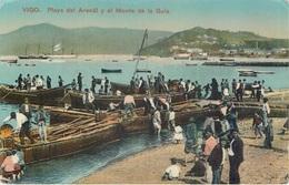 VIGO - PLAYA DEL ARENAL Y EL MONTE DE LA GUIA ~ AN OLD POSTCARD #91708 - Pontevedra