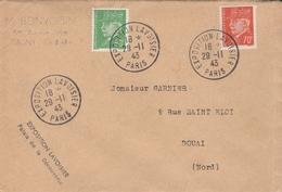 OBLIT. TEMPORAIRE EXPO. LAVOISIER PARIS 11/43 - Postmark Collection (Covers)