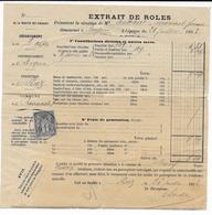 """1893 - VAR / BASSES ALPES - 1c SAGE OBLITERE AUPS Sur LETTRE """"EXTRAIT De ROLES"""" De RIEZ => VAR - Postmark Collection (Covers)"""