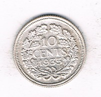 10 CENTS 1935 NEDERLAND /1931/ - 10 Cent