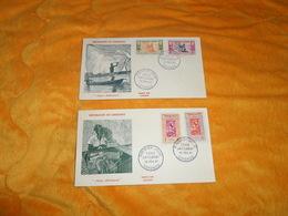 LOT DE 2 ENVELOPPES PREMIER JOUR DE 1961.../ REPUBLIQUE DU DAHOMEY SERIE ARTISANAT..CACHETS COTONOU + TIMBRES - Briefmarken