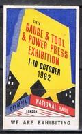 Viñeta, Label  LONDON (England) 1962. Power Press, Gauge And Tool, Prensa * - Otros