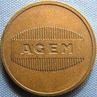 KB007-1 AGEM - AGEM AUTOMATEN EINDHOVEN - B 20.0mm - Koffie Machine Penning - Coffee Machine Token - Firma's