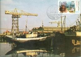 CM-Carte Maximum Card #1982-Portugal # Architecture # 19° Centenario  Cicade Da  Figueira Da Foz #porto Hafen,haven,port - Tarjetas – Máximo