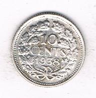 10 CENTS 1938 NEDERLAND /1934/ - 10 Cent