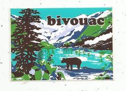 Autocollant , BIVOUAC ,ours - Aufkleber