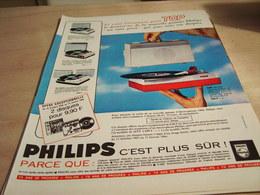 ANCIENNE PUBLICITE ELECTROPHONE TOP C EST PLUS SUR PHILIPS 1965 - Musique & Instruments
