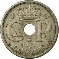 Monnaie, Danemark, Christian X, 25 Öre, 1936, Copenhagen, TTB, Copper-nickel - Danemark