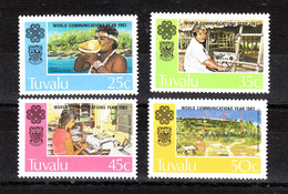 Tuvalu  - 1983. Trasmissioni: Radio, Fax, Antenne. Transmissions: Radio Operators, Fax Machines, Antennas. Complete MNH - Telecom